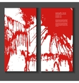 Flyer template with splashes of blood vector