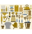 Kitchen icons vector