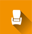 Armchair chairfurniture long shadow vector
