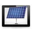 Tablet pc with solar panel vector
