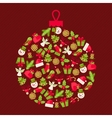 Merry christmas background for invitation card vector