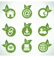 Web icons and design with green leaf vector