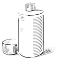 Graffiti spray can on a white background vector