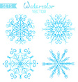 Set of watercolour snowflakes vector