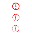Red danger sign with exclamation mark vector