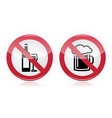 Drinking problem - no alcohol sign vector