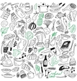 Natural food doodles vector
