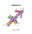 Pattern with butterflies cute zodiac sign - vector