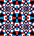 Spiral red and blue whirls seamless pattern vector
