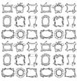 Doodle frames seamless pattern vector