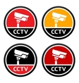 Cctv pictogram set sign security camera vector