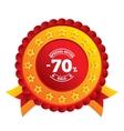 70 percent discount sign icon sale symbol vector