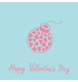 Bomb with hearts happy valentines day blue vector