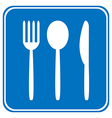 Food item road sign vector