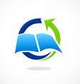Book education arrow process logo vector