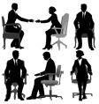 Business men and business women vector