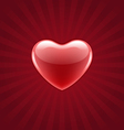 Red shiny heart vector