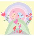 Tiny love bird vector