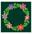 Floral wreath vector
