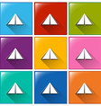Camping tent icons vector
