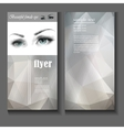 Flyer template female eye with fashion makeup vector