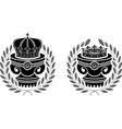 Pedestals of crowns vector