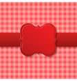 Red holiday paper design vector