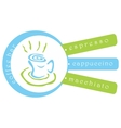 Coffee bar background vector