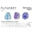 Alphabet - part 1 vector