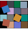 3d minimal colorful square background vector