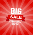 Big sale red color burst background vector