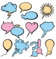 Talking bubbles set vector