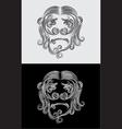 Monkey face vector