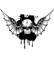 Skull with wings 3 vector