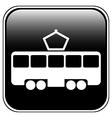 Tram button vector