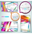 Business card set vector