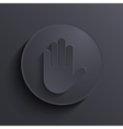 Modern dark circle icon eps10 vector