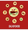 Seafood flat infographic design vector