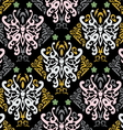 Butterfly seamless in style vector
