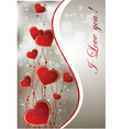Valentine greeting card vector