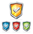 Protection shield security icons vector