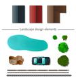 Landscape design elements vector