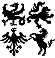 Set of heraldic elements vector