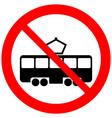 No tram sign vector