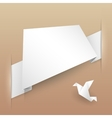 Abstract paper banner origami vector