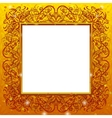 Golden holiday frame vector