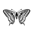 Beautiful black and white butterfly isolated on wh vector
