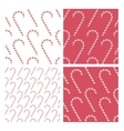 Candy cane background patterns vector
