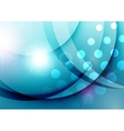 Elegant color waves with light flares vector