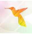 Colorful hummingbird vector